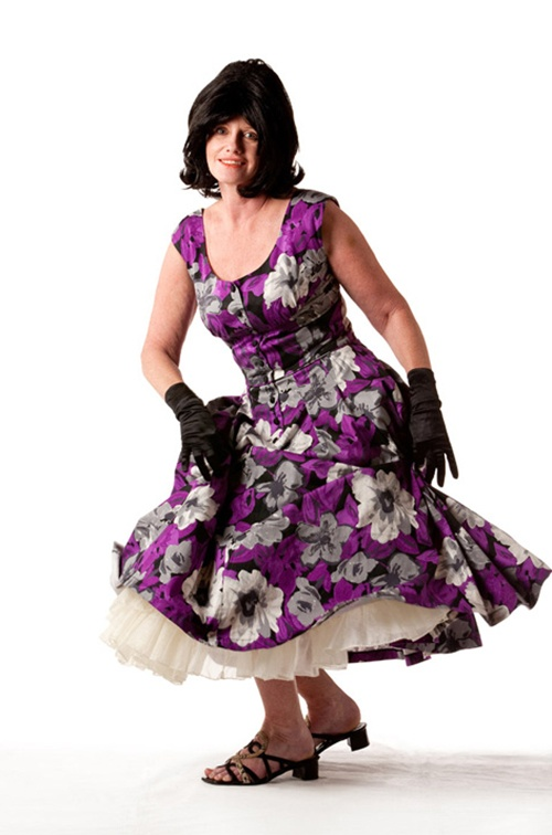 Purple 1950's Dress - Size 12