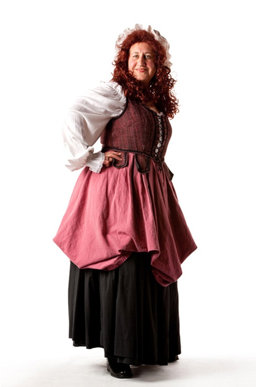 Plum & Black 18th Century Wench - Size 16/18