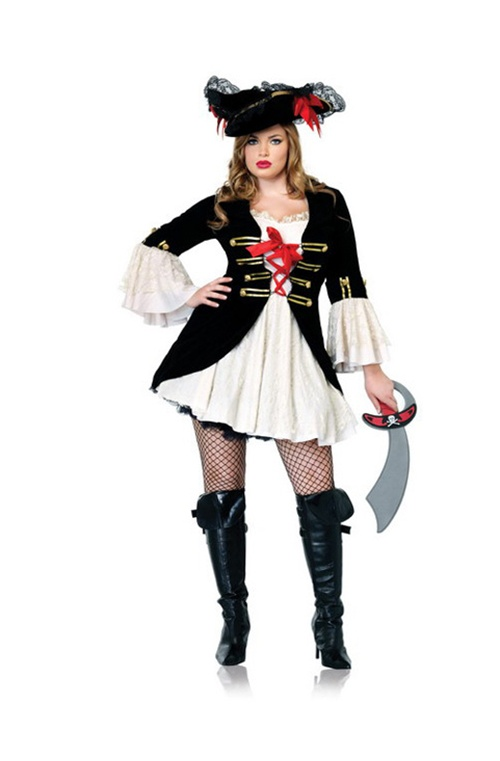 4 Pc Captain Swashbuckler. Dress, Petticoat, Choker & Hat. Sizes 16/18 & 18/20