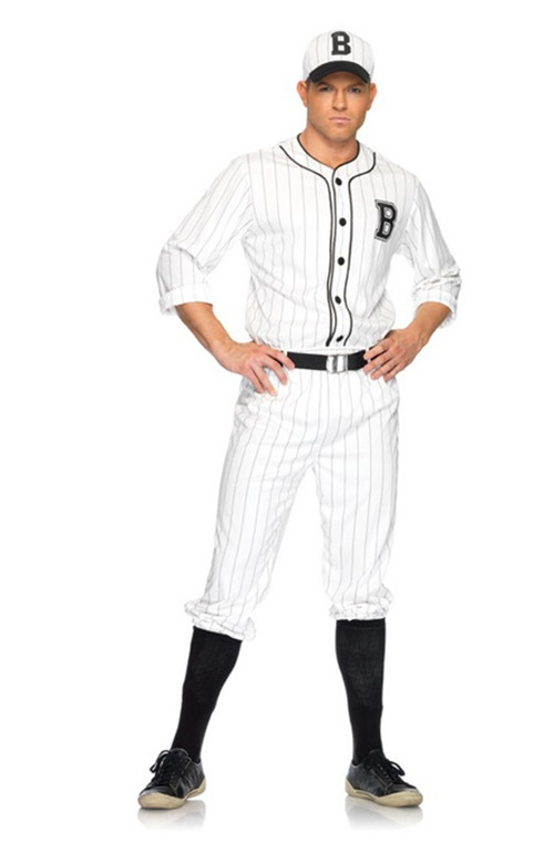 "4 Pc Retro Baseball Player. Shirt, Pants, Belt & Hat. Sizes 38""/40"" & 42""/44"""