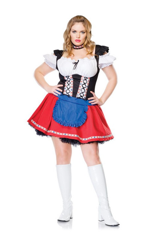 3 Pc Frisky Fraulein. Dress, Petticoat & Choker. Sizes 14 & 16