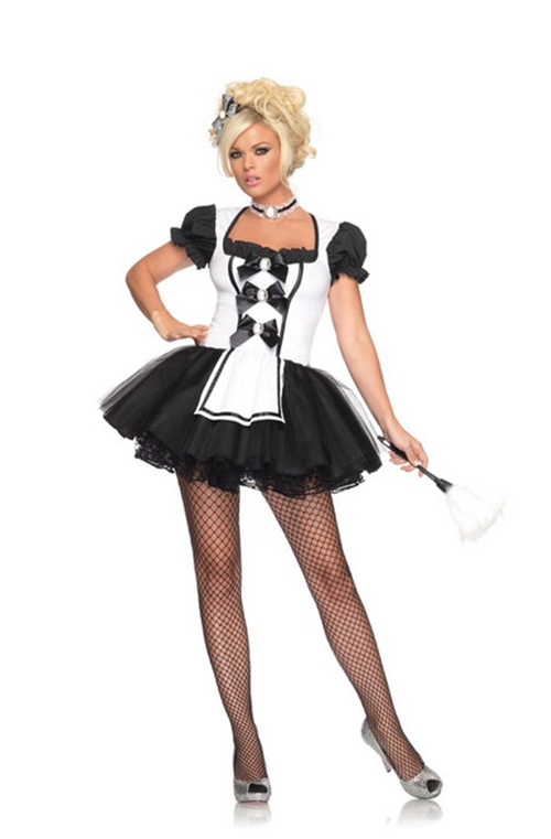 3 Pc Mistress Maid. Dress, Petticoat & Choker. Sizes 8/10 & 10/12