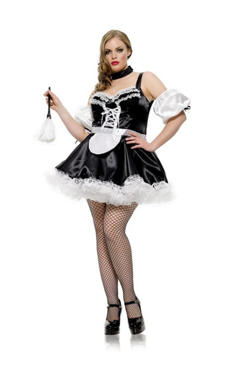 3 Pc Sexy French Maid. Dress, Sleeves & Petticoat. Size 16