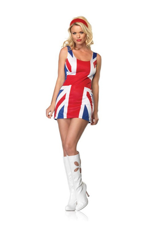 British Flag Dress. Sizes 8 & 10