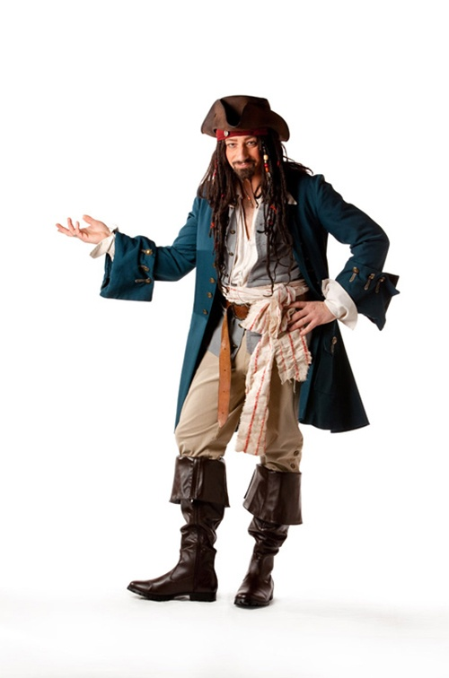 Capt Jack Sparrow - Sizes M/L & L/XL Tall