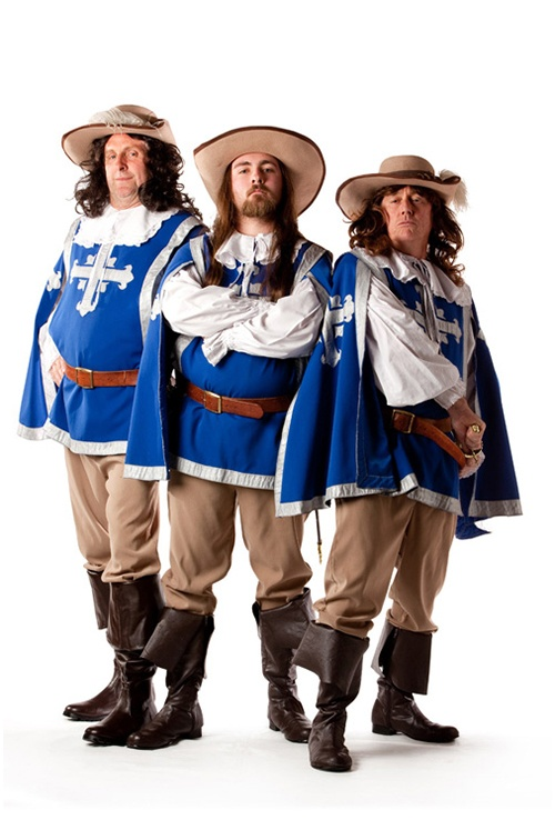 The Three Musketeers - Sizes medium to large