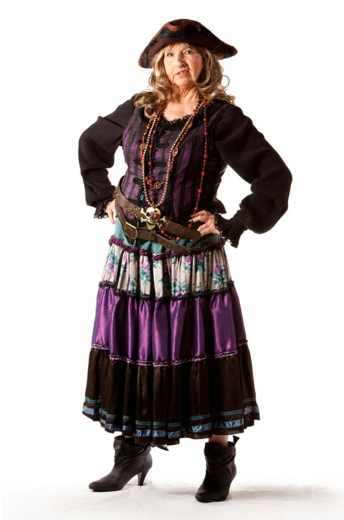 Teal & Purple Pirate Wench - Size 20/11